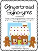 Gingerbread Literacy Center- Synonyms
