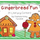 Gingerbread Literacy Centers - Common Core Aligned