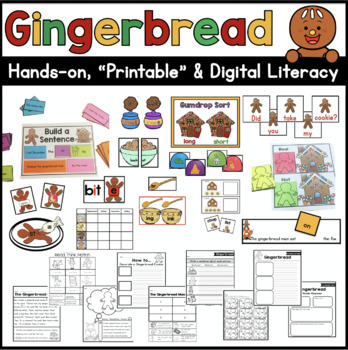 Gingerbread Literacy Unit: Ready to Go Printables and Hand
