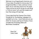 Gingerbread Literature Activities (Common Core Aligned)
