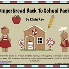 Gingerbread Man Back to School Pack