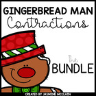 Gingerbread Man Contractions Bundle