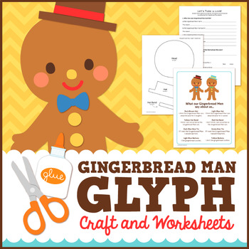 Gingerbread Man Glyph Craft and Worksheets