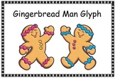 Gingerbread Man Glyph, Cut, color and paste