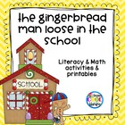 Gingerbread Man Loose in the School Back to School activity pack