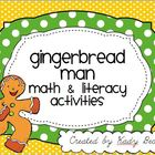 Gingerbread Man: Math & Literacy Packet