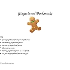 Gingerbread Man Printable Bookmarks