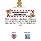 Gingerbread Man School Scavenger Hunt