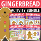 Gingerbread Math Bundle: Activities for Early Childhood Learning