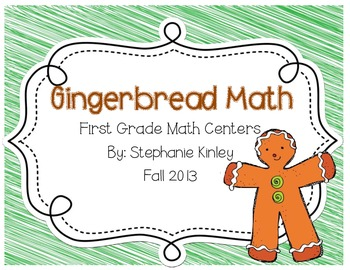 Gingerbread Math Centers - Common Core Aligned