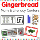 Gingerbread Math and Literacy Center Bundled