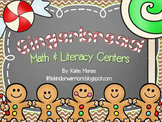 Gingerbread Math and Literacy Centers