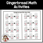 Gingerbread Men Math Activities