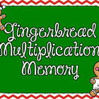 Gingerbread Multiplication Memory Game {FREEBIE}