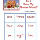 Gingerbread Number Word Bingo