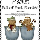 Gingerbread Pocket Full of Fact Families Math Center