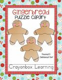 Gingerbread Puzzle Clipart - Christmas Clipart - Commerical Use