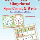 Gingerbread Spin, Count, and Write