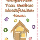 Gingerbread Teen Numbers Identification Game
