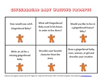 Gingerbread Theme Literacy Activities