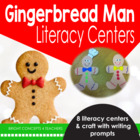 Gingerbread Winter Fun! {8 Literacy Centers and a Writing