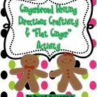 Gingerbread Writing Directions Craftivity and Flat Ginger 