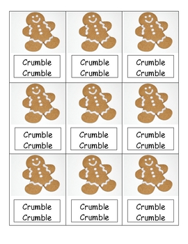 Gingerbread sight word game