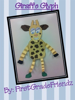 Giraffe Animal Fun Glyph Craftivity