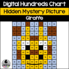 Giraffe Hundreds Chart Hidden Picture Activity for Math or