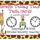 Giraffe Telling Time Task Cards