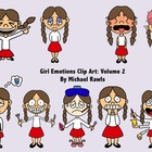 Girl Emotions and Feelings Clip Art Collection: Volume 2