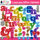 Glitter Alphabet Letters (Lowercase) Clipart - PNG/300dpi 