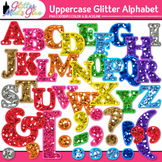 Glitter Alphabet Letters Clip Art [Uppercase & Punctuation]