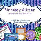 Glitter Birthday Packet~ Editable