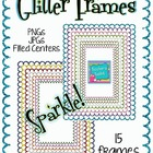 Glitter Frames Clip Art {8.5 x 11} Commercial Use OK