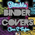 Glitter, Zebra and Cheetah~Editable Covers for Binders