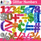 Glittery Math Numbers Clip Art - For Smartboard Activities