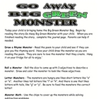 Go Away Big Green Monster Take Home Bag