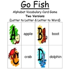 Go Fish Alphabet Games - Big Letter to Little Letter &amp; Let