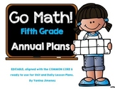Go Math! 5th grade ~ Yearly Paced Plan aligned with the Co