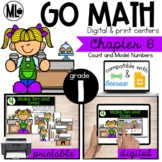 Go Math! Chapter 6 Centers for First Grade