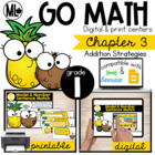 Go Math! Chapter 3 Centers for First Grade