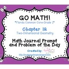 Go Math! Florida Common Core Chapter 12 Journal Prompts an