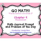GoMath!(1st grade)FLA Common Core Chapter 9 Journal Prompt