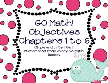 "Go Math! 'I Can"" Statements for Kindergarten"