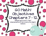 Go Math! 'I Can' Statements/Objectives for Kindergarten