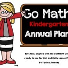 Go Math! Kindergarten Yearly Paced Plan aligned with the C