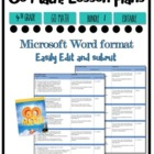 Lesson Plan Bundle 4th Grade {1st 6 Weeks Editable} Go Math! CC