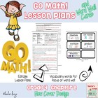 Go Math Lesson Plans Unit 8 - Word Wall Cards - EDITABLE -