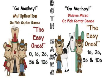 Go Monkey! Multiplication & Division Go Fish Games The Eas